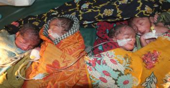 বগুড়ায় সিজার না করে ৪ সন্তানের জন্মদান