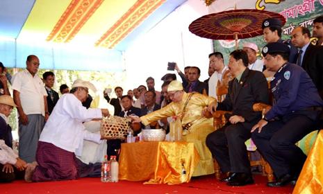 বান্দরবান বোমাং সার্কেলের ঐতিহ্যবাহী রাজপুণ্যাহ অনুষ্ঠান শুরু