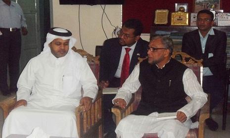 বড়লেখায় কাতারের রাষ্ট্রদূতের সাথে হুইপ শাহাব উদ্দিনের মতবিনিময়