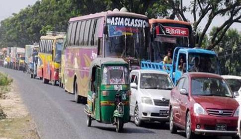 ৪র্থ দিনের মতো যানজটের কবলে ঢাকা-চট্টগ্রাম মহাসড়ক