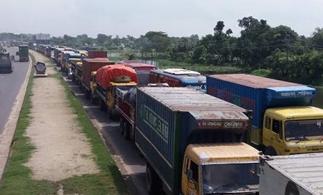 ঢাকা-চট্টগ্রাম মহাসড়কে ১৪ কিলোমিটার যানজট