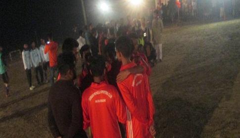 মৌলভীবাজারে নাইট মিনিবার ফুটবল টুর্নামেন্টের উদ্বোধন