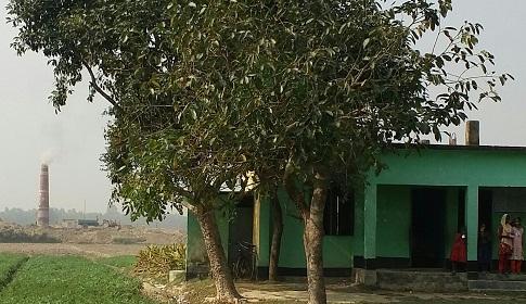 রানীশংকৈলে বিদ্যালয় ঘেঁষে চলছে ইটভাটা
