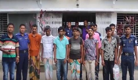 টাঙ্গাইলে মাদক সেবনের দায়ে নারীসহ ১৪ জনকে বিভিন্ন মেয়াদে সাজা
