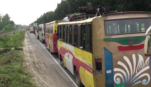 বঙ্গবন্ধু সেতু-ঢাকা-টাঙ্গাইল মহাসড়কে নির্বিঘ্নে যান চলাচল