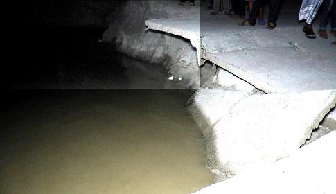 নদী ভাঙনে শেখ রাসেল সেতু হুমকির মুখে
