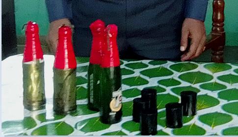 আগৈলঝাড়ায় বিশেষ অভিযানে পেট্রোল বোমাসহ ৯টি বোমা উদ্ধার