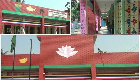 চুয়াডাঙ্গায় নানা রঙের রং তুলি, ছবি ও কার্টুনের স্কুল