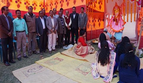 পাংশা সরকারি কলেজে সরস্বতী পূজা অনুষ্ঠিত