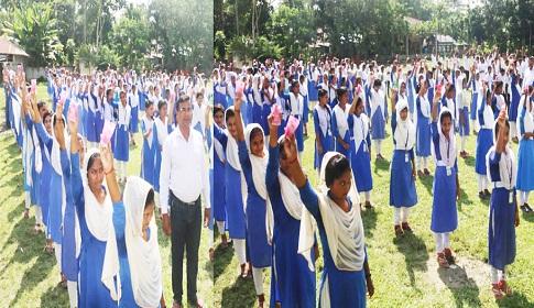 রাজিহার মাধ্যমিক বিদ্যালয়ে ব্র্যাকের ওয়াশ কর্মসূচি প্রকল্পের উদ্বোধন