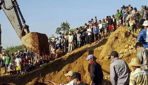 মিয়ানমারে খনিতে ধস : নিহত ৫০
