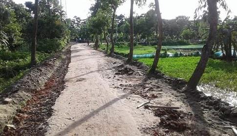 সোনাগাজীতে সড়ক নির্মাণকাজে অনিয়ম : কাজ বন্ধ রাখার দাবি স্থানীয়দের