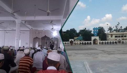 মৌলভীবাজারে ফাঁকা ঈদগাহ, মসজিদে মসজিদে মুসল্লিদের নামাজ আদায়