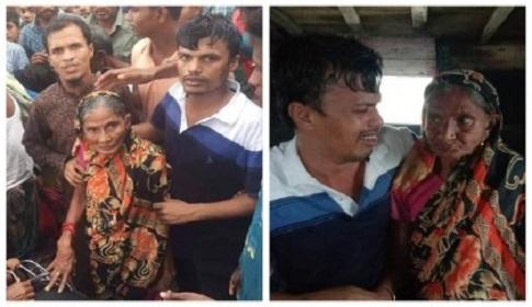 ১৫ বছর পর মা সন্তানের মহামিলনে অশ্রুসজল শ্যামনগরের চাঁদনিমুখো গ্রামের মানুষ