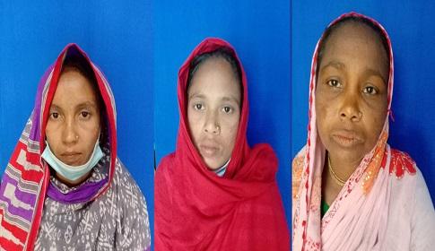 গলাচিপায় তিন নারীর অসহায় জীবন যাপন