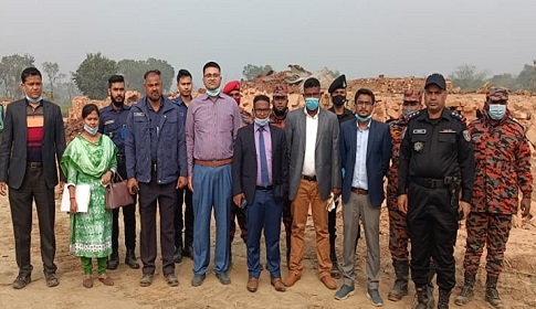 ফরিদপুরে ৪টি অবৈধ ইটভাটা গুড়িয়ে দিয়েছে পরিবেশ অধিদপ্তর