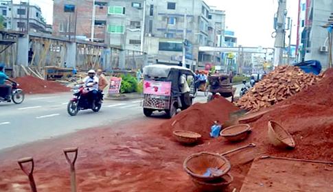 নির্মাণ সামগ্রী যত্রতত্র ফেলে রাখলে এক বছরের কারাদণ্ড