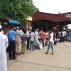 তেজগাঁও স্টেশনেও টিকিট প্রত্যাশীদের ভিড়