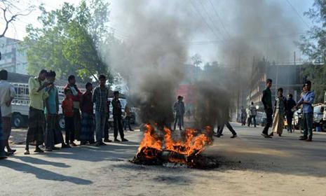 সকাল-সন্ধ্যা হরতাল চলছে বান্দরবানে