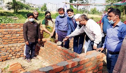 নবীগঞ্জে গৃহহীনদের ঘর নির্মাণ কাজের উদ্বোধন
