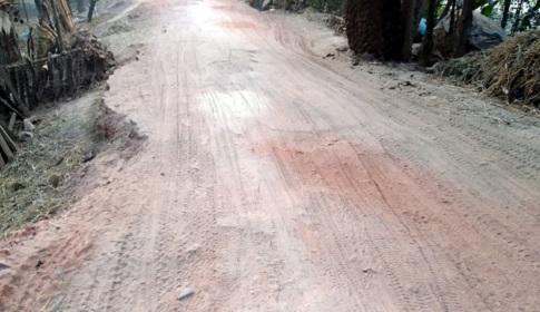 নওগাঁর মহাদেবপুর-শিবগঞ্জ সড়ক চলাচলের অযোগ্য