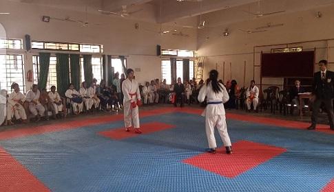 সালথায় কারাতে প্রতিযোগিতা অনুষ্ঠিত