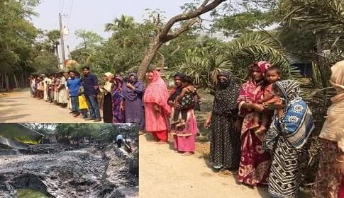 সোনাগাজীতে সরকারি খাল দখলের বিরুদ্ধে এলাকাবাসীর বিক্ষোভ