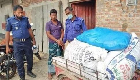 গোবিন্দগঞ্জে ১০ টাকা কেজির সরকারি চাল উদ্ধার, ব্যবসায়ী আটক