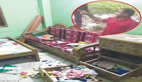 হবিগঞ্জে পত্রিকা অফিস ও সংখ্যালঘুদের বাড়িতে হামলা ভাঙচুর লুটপাট