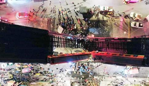 মেক্সিকোতে ব্রিজ ধসে পড়ায় ১৩ জনের মৃত্যু