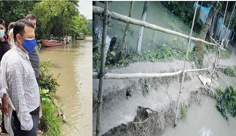 পালরদী নদী গ্রাস করেছে অর্ধশত বাড়ি ও সড়ক